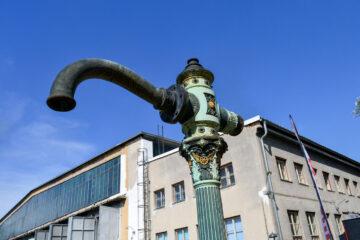 Vodní jeřáb ve Strasshofu